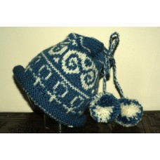 Blue and White Beltane Hat